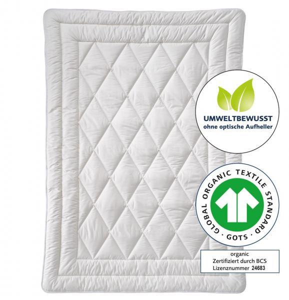 billerbeck Bettdecke Natur Cosicotton Nature Organic aus Bio-Baumwolle 135x200 cm, GOTS, ohne optische Aufheller