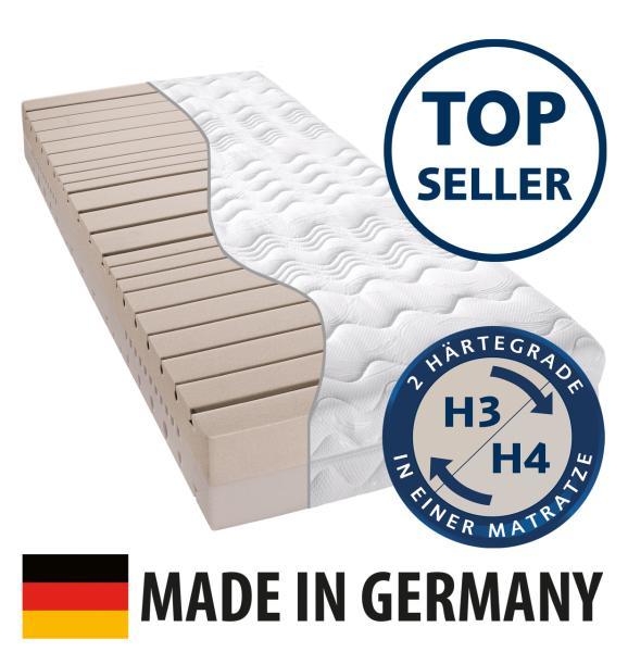 billerbeck Matratze Komfortschaum CIEL Matratzenkern mit Matratzenbezug - Querschnitt - Topseller