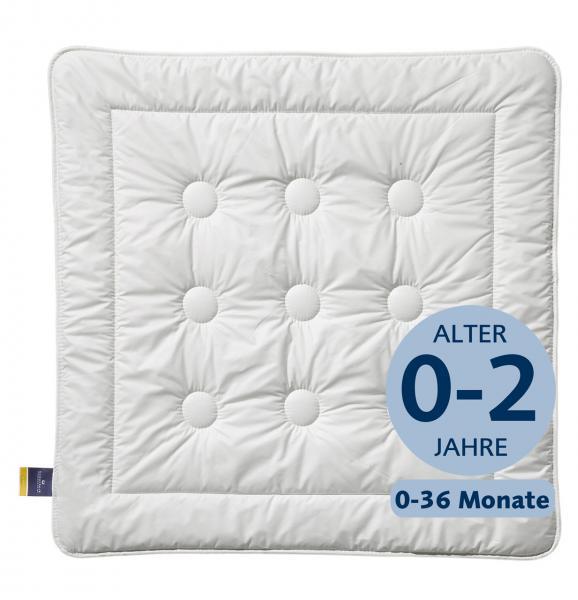 billerbeck Kinderdecke Faserdecke Washplus 95, Wärmestufe sommerleicht, Größe 80x80 cm, Alter 0-2 Jahre und 0 - 36 Monate