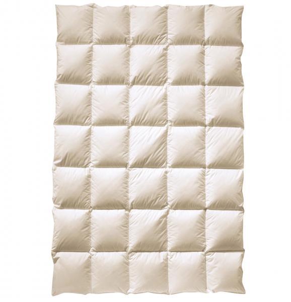billerbeck Bettdecke Daunendecke Dahlie 155 x 200 cm - ohne optische Aufheller