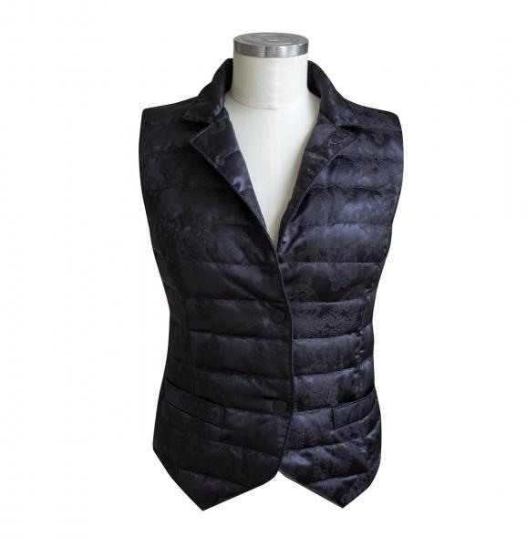 billerbeck Daunenweste für Damen mit 100 % Seide in Schwarz - front