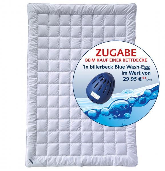 billerbeck Bettdecke Super Wash aus Faser 135x200 cm mit Blue Wash Egg
