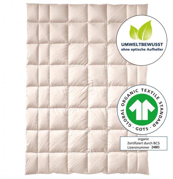 billerbeck Bettdecke Natur Zirberella Wool Organic - Schafschurwollle mit Zirbenholzflocken 135x200 cm, GOTS Zertifikat. ohne optische Aufheller
