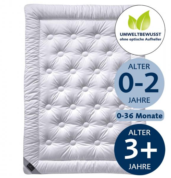 billerbeck Bettdecke Kinderdecke Faser Aero, Größe 100 x 135 cm, Wärmestufe sommerleicht und mittel, Bezug ohne optische Aufheller, Alter 0-2 Jahre und 0-36 Monate und ab 3 Jahre