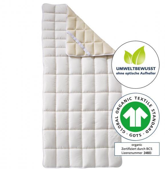 billerbeck Bio-Topper Cosidorm Nature Organic Matratzenauflage mit Bio-Schafschurwolle, ohne optische Aufheller, GOTS Zertifikat