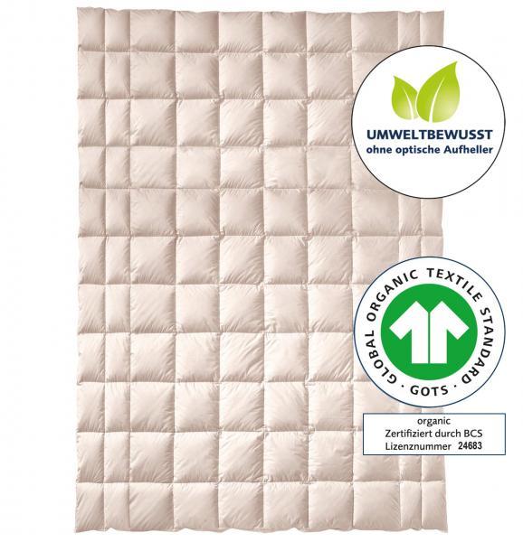 billerbeck Bettdecke Natur Zirberella Cotton Organic - Baumwolle mit Zirbenholzflocken 135x200 cm, GOTS Zertifikat, ohne optische Aufheller