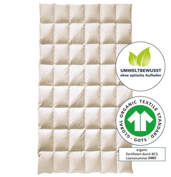billerbeck Bio-Topper Matratzenauflage mit Bio-Gänsedaunen, ohne optische Aufheller, GOTS Zertifikat