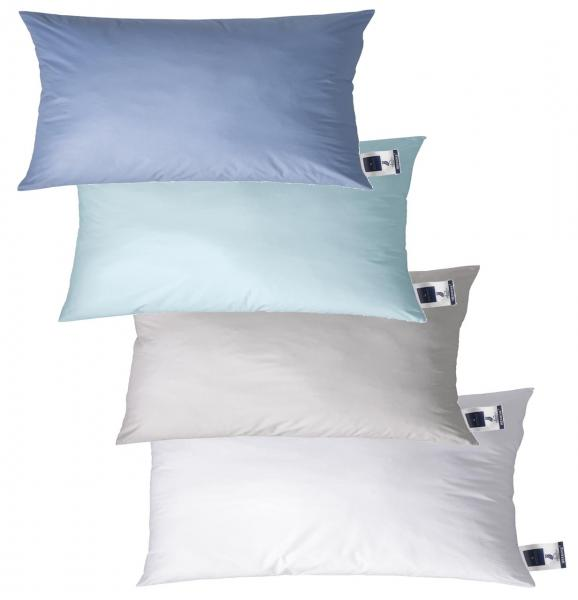 billerbeck Kopfkissen Daunenkissen Hermine 30, 40x80 cm - Farbe aqua, jeans, silver, weiß