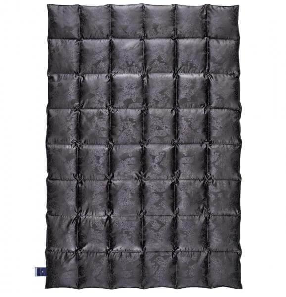 billerbeck Bettdecke Eiderdaunendecke No. 1 Farbe schwarz Bezug Seiden-Jacquard 135x200 cm Waermestufe mittel